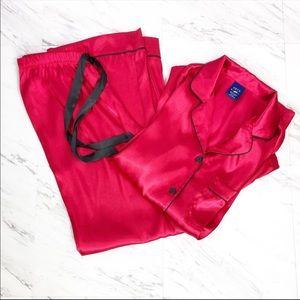 Apt. 9 Red Satin Pajama Set